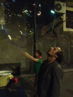 Catania, un momento della festa in piazza