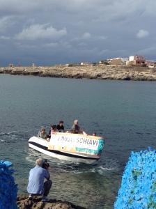I carovanieri a Lampedusa