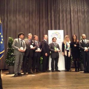 La consegna del Premio Falcone. All'estrema sinistra nella foto, Alessandro Cobianchi